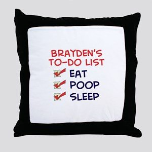 Brayden's To-Do List Throw Pillow