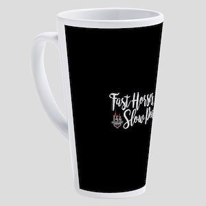 KY Derby 144 Fast Horses Slow Pour 17 oz Latte Mug