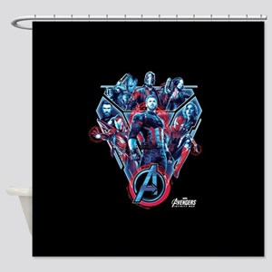 Avengers Infinity War Stance Shower Curtain