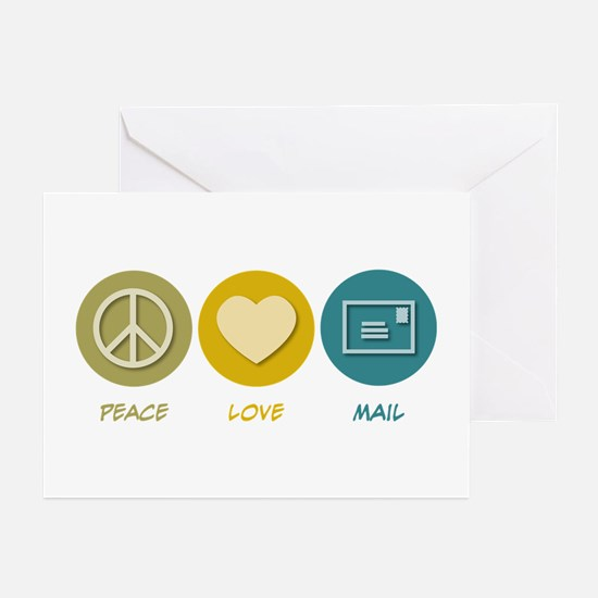 Peace Love Mail Greeting Cards (Pk of 20)