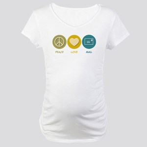 Peace Love Mail Maternity T-Shirt