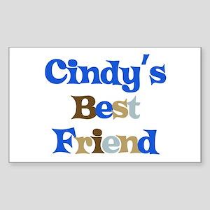 Cindy's Best Friend Rectangle Sticker
