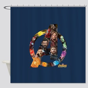 Avengers Infinity War Logo Shower Curtain