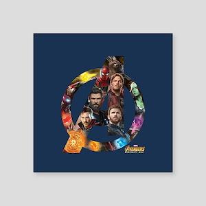 "Avengers Infinity War Logo Square Sticker 3"" x 3"""