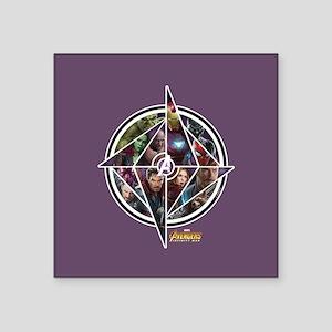 "Avengers Infinity War Circl Square Sticker 3"" x 3"""