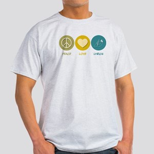 Peace Love Lyrics Light T-Shirt