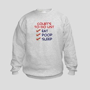 Colby's To-Do List Kids Sweatshirt