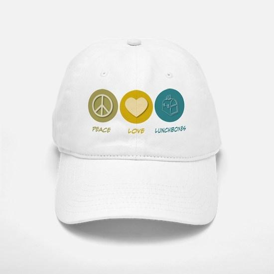 Peace Love Lunchboxes Baseball Baseball Cap