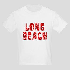 Long Beach Faded (Red) Kids Light T-Shirt