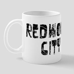 Redwood City Faded (Black) Mug