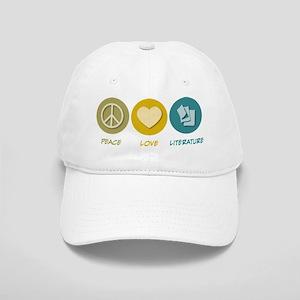 Peace Love Literature Cap