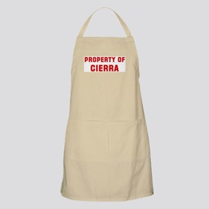 Property of CIERRA BBQ Apron