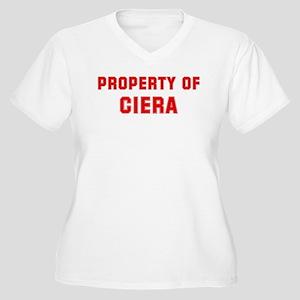 Property of CIERA Women's Plus Size V-Neck T-Shirt