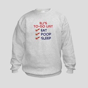 Eli's To-Do List Kids Sweatshirt