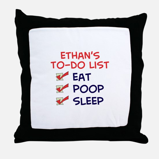 Ethan's To-Do List Throw Pillow