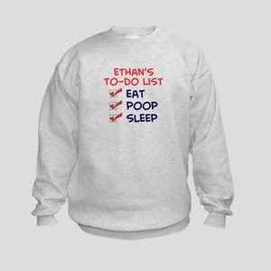 Ethan's To-Do List Kids Sweatshirt