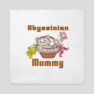 Abyssinian Cat Designs Queen Duvet
