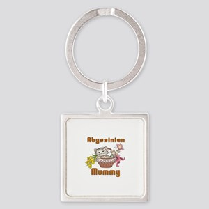 Abyssinian Cat Designs Square Keychain