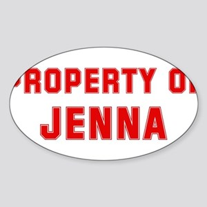 Property of JENNA Oval Sticker