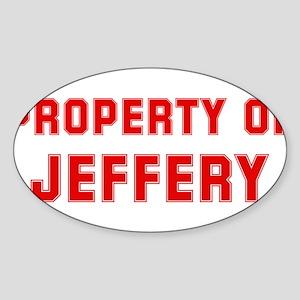 Property of JEFFERY Oval Sticker
