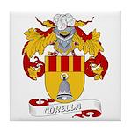 Corella Family Crest Tile Coaster