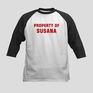Property of SUSANA Kids Baseball Jersey