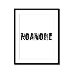 Roanoke Faded (Black) Framed Panel Print