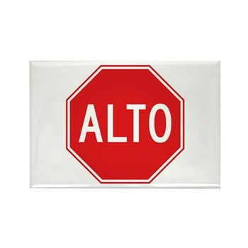 Stop, Mexico Rectangle Magnet (10 pack)