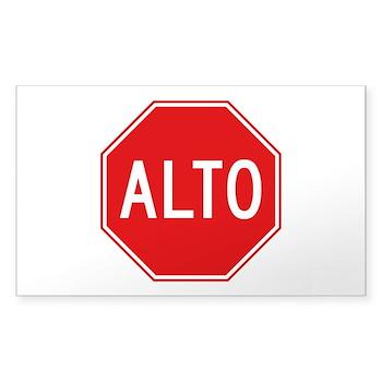 Stop, Mexico Rectangle Sticker