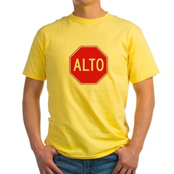 Stop, Mexico Yellow T-Shirt