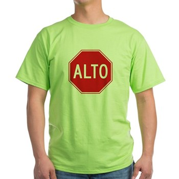 Stop, Mexico Green T-Shirt