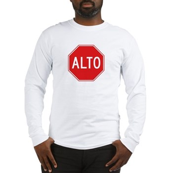 Stop, Mexico Long Sleeve T-Shirt