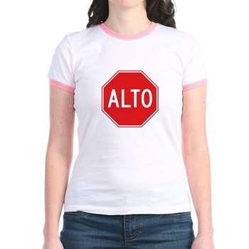 Stop, Mexico Jr. Ringer T-Shirt
