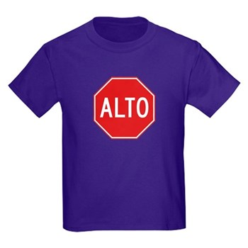Stop, Mexico Kids Dark T-Shirt