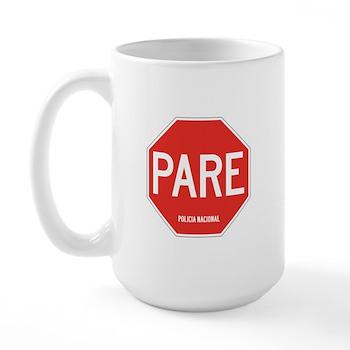 Stop, National Police, Ecuador Large Mug
