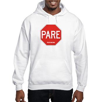 Stop, National Police, Ecuador Hooded Sweatshirt