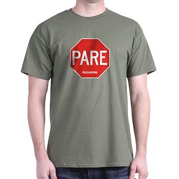 Stop, National Police, Ecuador Dark T-Shirt