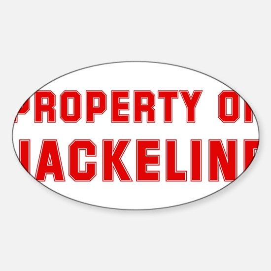 Property of JACKELINE Oval Decal