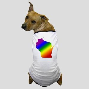 Wisconsin Gay Pride Dog T-Shirt