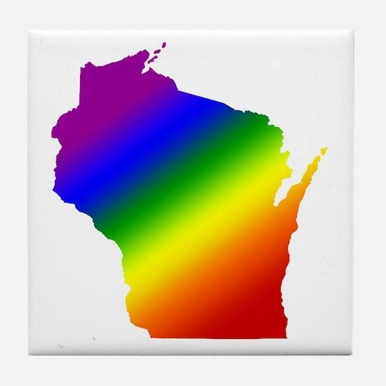 Wisconsin Gay Pride Tile Coaster