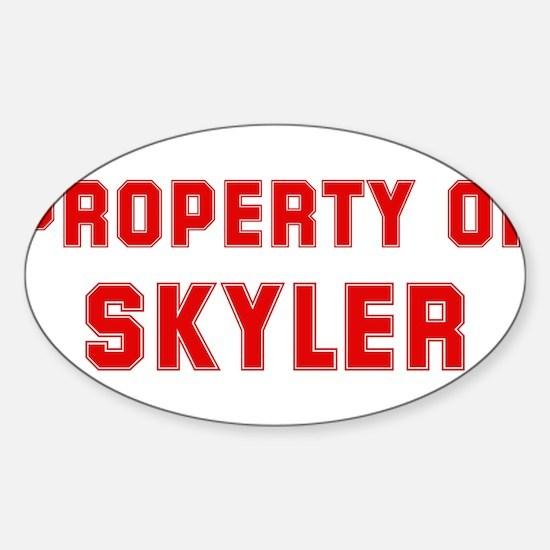 Property of SKYLER Oval Decal