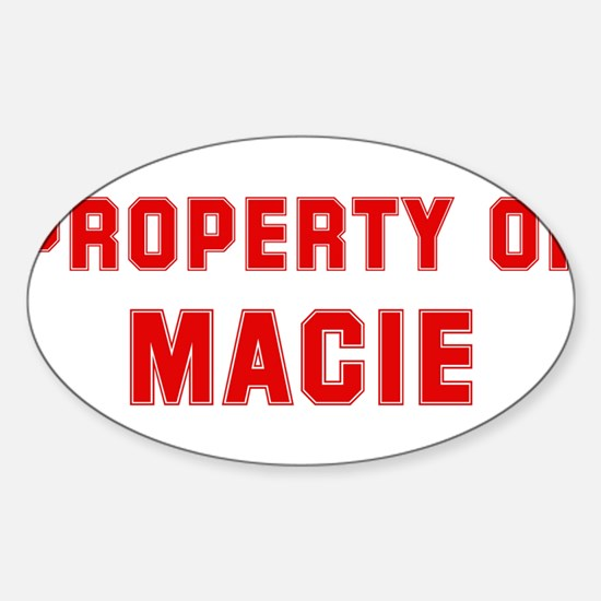 Property of MACIE Oval Decal
