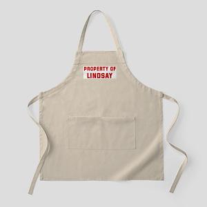 Property of LINDSAY BBQ Apron