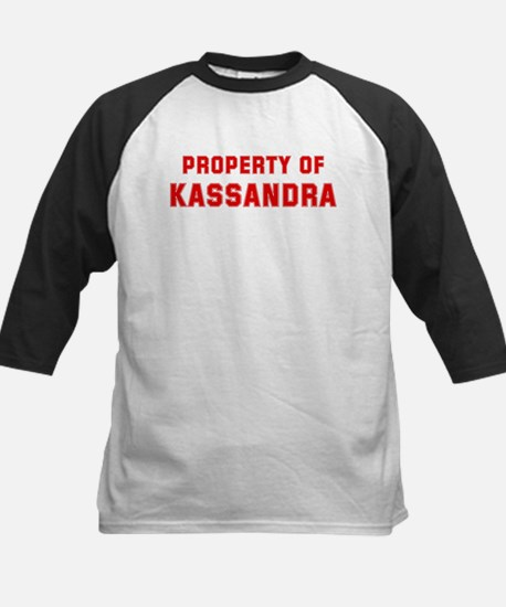Property of KASSANDRA Kids Baseball Jersey