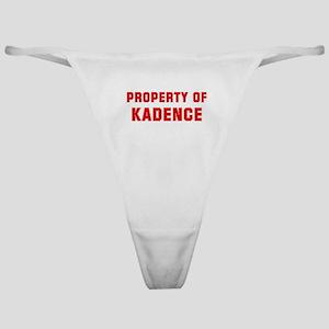 Property of KADENCE Classic Thong