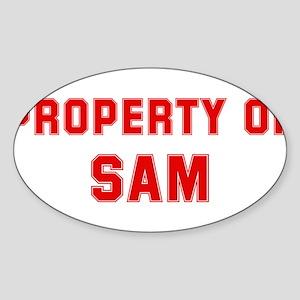 Property of SAM Oval Sticker