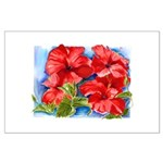 Red Hibiscus Large Poster