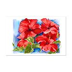 Red Hibiscus Mini Poster Print