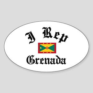 I rep Grenada Oval Sticker