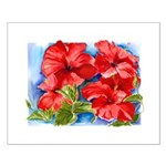 Red Hibiscus Small Poster